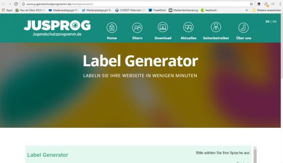 Screenshot Seite jugendschutzprogramm.de