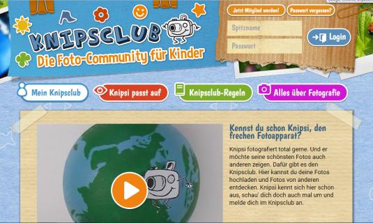 Screenshot der Seite knipsclub.de